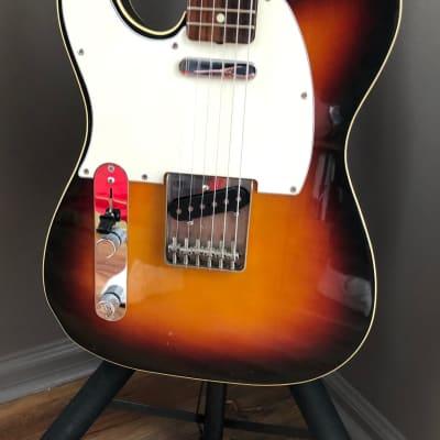 Left Handed Fender 62 Reissue Telecaster Custom 1986 Three Color Sunburst Lefty for sale