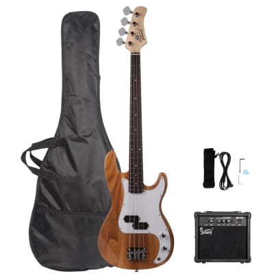 Glarry GP Electric Bass Guitar Burlywood w/ 20W Amplifier for sale