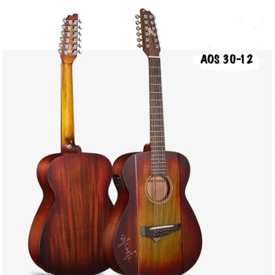 AMIS AOS30-12 12-String Acoustic Guitar- Best guitar in the price level. 2018 Mixed Colors for sale