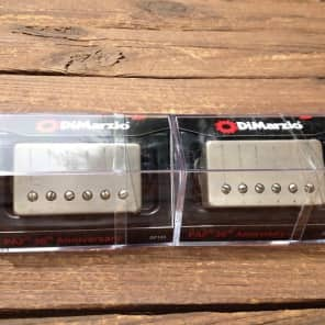 DiMarzio Regular Spaced PAF 36th Anniversary Neck/Bridge Set Aged Nickel Covers