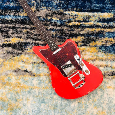 MJT Fiesta Red Jazzcaster for sale