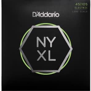 D'Addario NYXL45105 Nickel Wound Bass Guitar Strings Light Top / Med Bottom 45-105 Long Scale