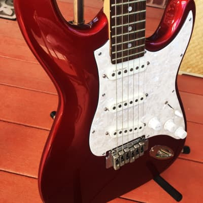 1998 Lace Stratocaster Metallic Red - RARE 72 Made! for sale