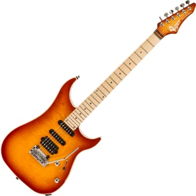 Vigier Excalibur Ultra Blues (HSS, Trem, MN) +Case - amber for sale