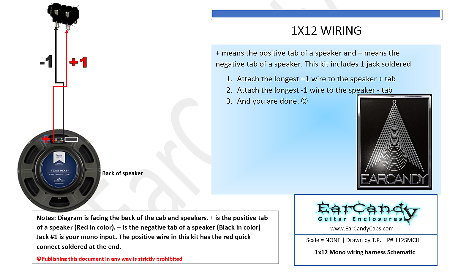 Ear Candy Mil Spec 1x10 1x12 1x15 Guitar Amp Speaker Cab Wiring Diagram 15 Off