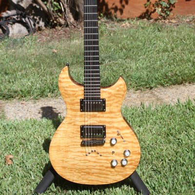 SALE- Jarrett Forza 2010's Flamed Maple Custom Guitar w/Ghost Piezo / stereo output for sale