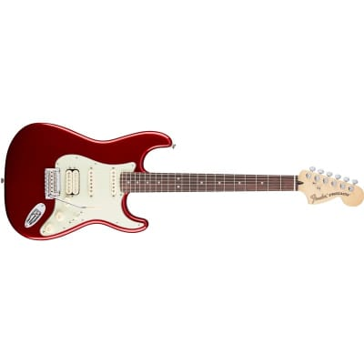 Fender Deluxe Stratocaster HSS Candy Apple Red, Pau Ferro for sale