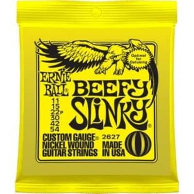 Ernie Ball 2627 Beefy Slinky Electric Guitar Strings; 11-54