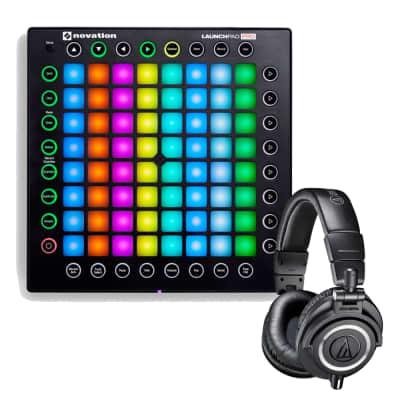 Novation Launchpad Pro USB MIDI Controller for Ableton Live with Audio Technica M50X Black Headphone