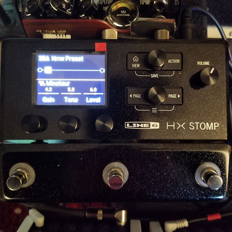 new line 6 hx stomp multi effects processor for guitar bass reverb. Black Bedroom Furniture Sets. Home Design Ideas