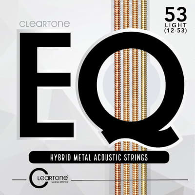 Cleartone 7812 EQ Acoustic Hybrid Metal Light (12-53) Guitar Strings