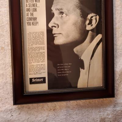 1966 Selmer Horns promotional Ad Framed Stan Getz Selmer Mark VI Sax Original