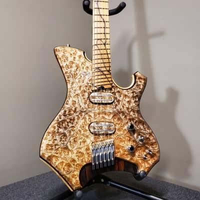 Barlow Guitars  Osprey Headless Multiscale  2018 Golden Camphor, Pale Moon Ebony, Ziricote for sale