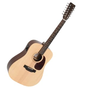 Sigma DM12E 12-String Dreadnought with Electronics Natural