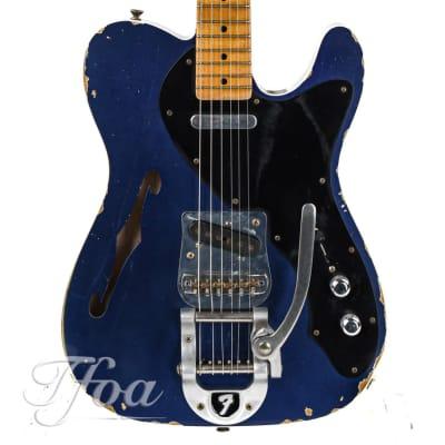 Fender Custom Shop Masterbuilt Telecaster Thinline Yuriy Shishkov Candy Blue Relic 2014 for sale