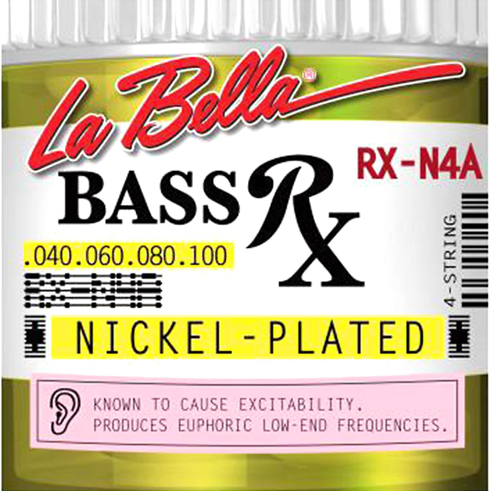 La Bella Bass Strings Rx Nickel Plated 4-String RX-N4A .040-.100