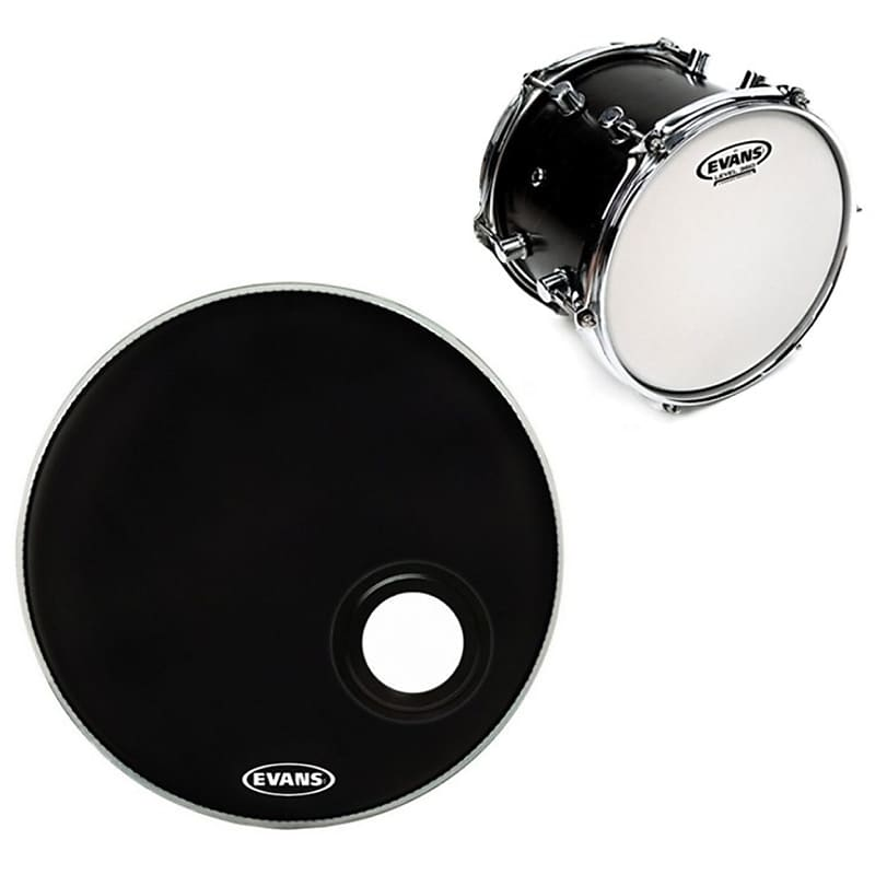 evans remad resonant bass drumhead black 22 with reverb. Black Bedroom Furniture Sets. Home Design Ideas