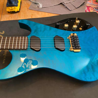 Moog E-1 Paul Vo Collector's Edition - Blue Flamed Top for sale