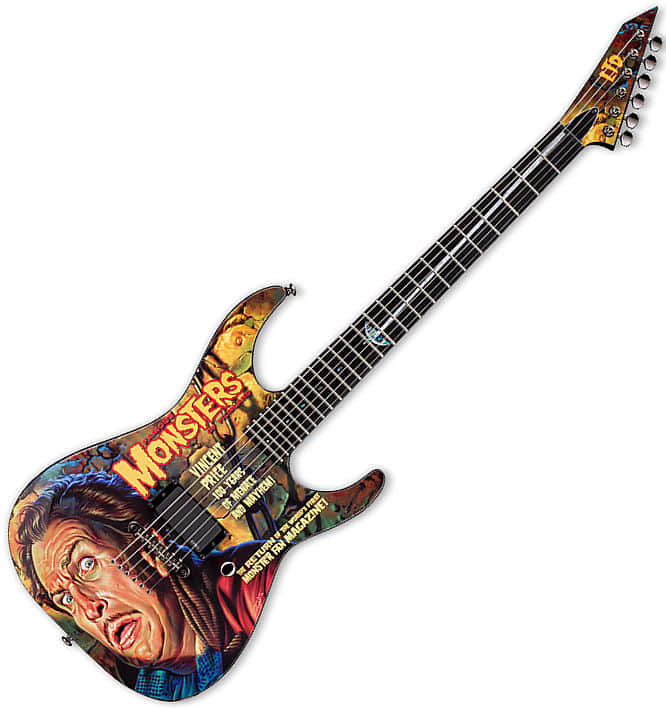esp ltd famous monster vincent price electric guitar reverb. Black Bedroom Furniture Sets. Home Design Ideas