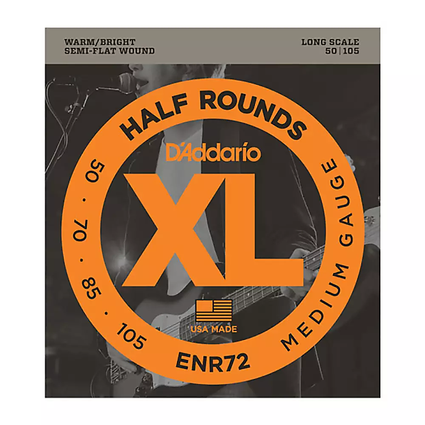 d 39 addario enr72 half round long scale medium bass strings reverb. Black Bedroom Furniture Sets. Home Design Ideas