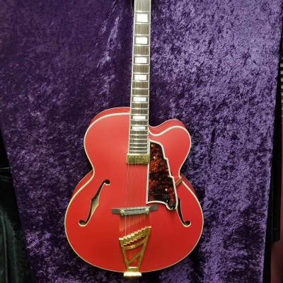 D'Angelico DLX EXL1 Matte Cherry Archtop Guitar