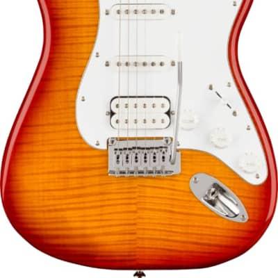 Squier Affinity Series Stratocaster FMT HSS M/F/B Sienna Sunburst PN 0378152547 for sale