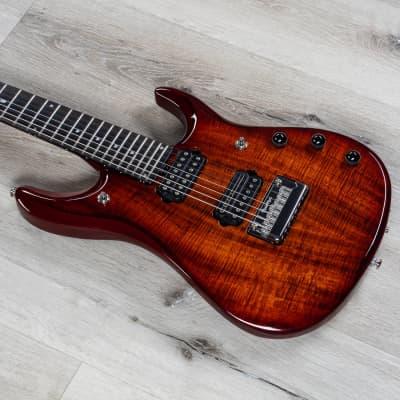 Ernie Ball Music Man Petrucci Flame Maple JP7 7-String Guitar, Island Burst Koa