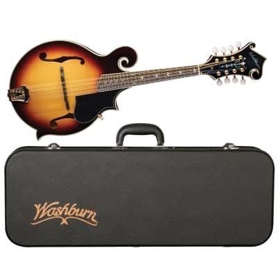 Washburn M3SWK Florentine Cutaway Carved All Solid Mandolin w/Hardshell Case for sale