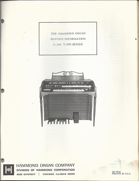 Hammond Service Manual- T-100/T-200 series 60's on