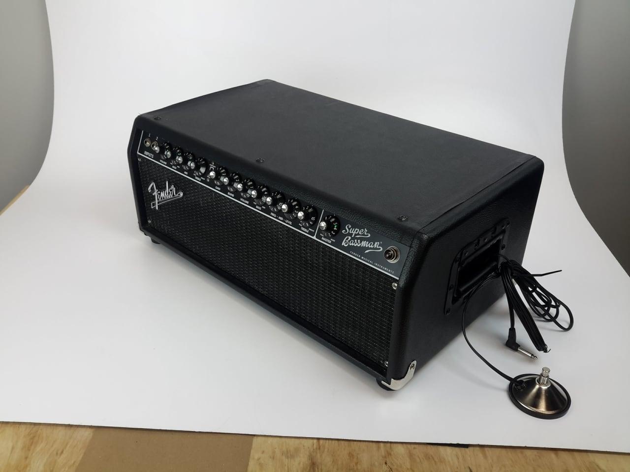 fender super bassman tube head bass amp 300 watts w foot reverb. Black Bedroom Furniture Sets. Home Design Ideas