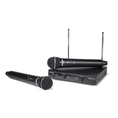 Samson Stage 200 Dual-Channel VHF Handheld Microphone Wireless System, Group A