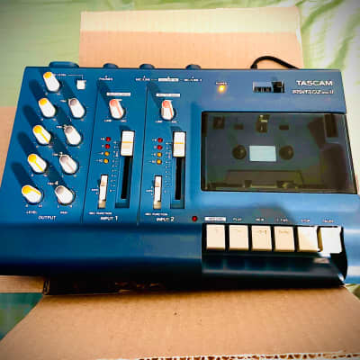 TASCAM Porta 02 mkII SUPER CLEAN Ministudio 4-Track Cassette Recorder 2003 Blue