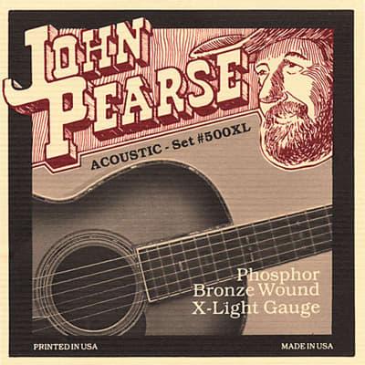 John Pearse 500XL Acoustic Strings - Phosphor Bronze / Extra Light Gauge