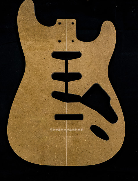 Guitar templates stratocaster poly coated 1 2 mdf for Strat neck template