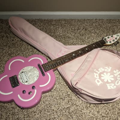 Daisy Rock Flower Six String Electric Guitar with original Gig Bag 2002 Pink for sale