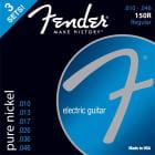 3-PACK of Fender 150R Pure-Nickel Electric Guitar Strings - REGULAR 10-46 image