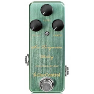 One Control BJF Series Sea Turquoise Delay Pedal for sale
