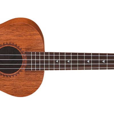 Luna Ukulele UKE TTN MAH Tattoo Tenor - Mahogany w/Gigbag for sale