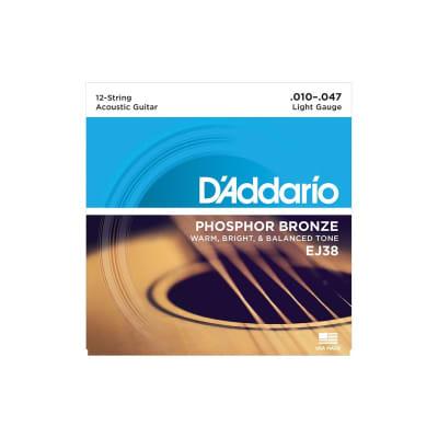 D´Addario EJ38 Phosphor Bronze 12 Acoustic 12 Strings 10-47