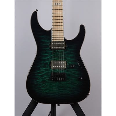 ESP E-II M-II NT Hipshot, Black Turquoise Burst, B-Stock for sale