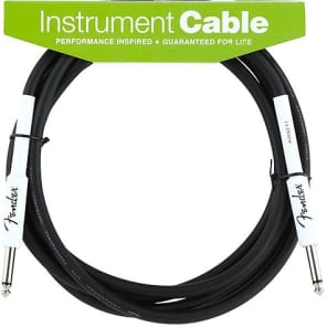Fender Performance Series Instrument Cable, 10', Black 2016