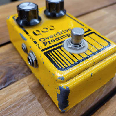 DOD Overdrive/Preamp 250 Modded By Scotty From Pro Analog Devices  1980s Yellow