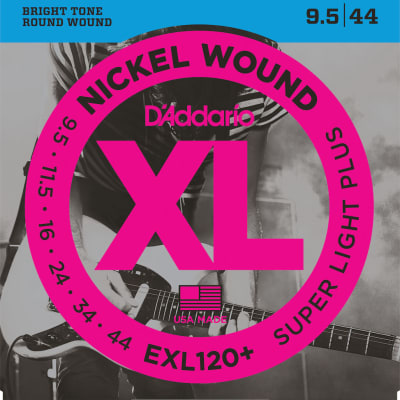 D'Addario EXL120+-3D Nickel Wound Super Light Plus Electric Guitar Strings, 9.5-44 (3)
