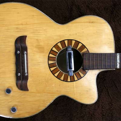 Rare Vintage 1960s Wolfgang Hüttl Steelstring Flat Top Guitar Made In Germany for sale