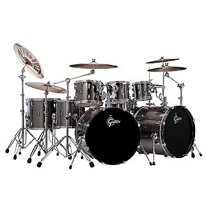 gretsch energy double bass shell pack grey steel 7 piece reverb. Black Bedroom Furniture Sets. Home Design Ideas