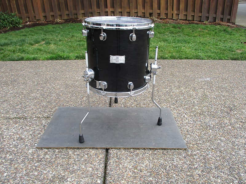 Mapex Saturn 14 X 14 Floor Tom On Legs Transparent Black Reverb