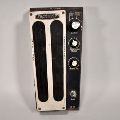 Circa 1960s Cromwell HA-9P Tornado Wah Volume Siren Surf RARE Vintage Guitar Effects Pedal MIJ