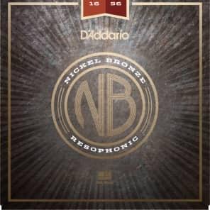 D'Addario NB1656 Nickel Bronze Resophonic Acoustic Guitar Strings - (16-56)