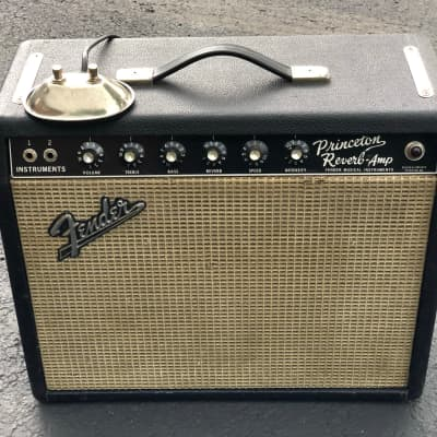 Fender Princeton Reverb 12-Watt Vintage Blackface Guitar Combo Amp for sale