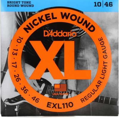 D'Addario EXL110-3D Nickel Wound Electric Guitar Strings, Regular Light Gauge 3-Pack